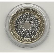 03 - Reino Unido Moneda Bimetálica 2 Libras 2015 - Mbc