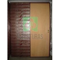 Puerta Corrediza Embutir En Cedro 60x200/ Tab 10 Marco Chapa