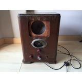 Antigua Radio A Lámpara- Caja De Madera