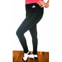 Calzas Adidas Mujer De Lycra Sin Friza Modelo Nuevo, Negro