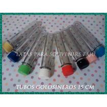 Tubos Golosineros Vacios De 15cm X10u Nuñez S.isidro Liniers