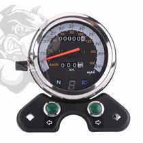 Tablero Velocimetro Universal Completo Moto Cafe Racer Sp06
