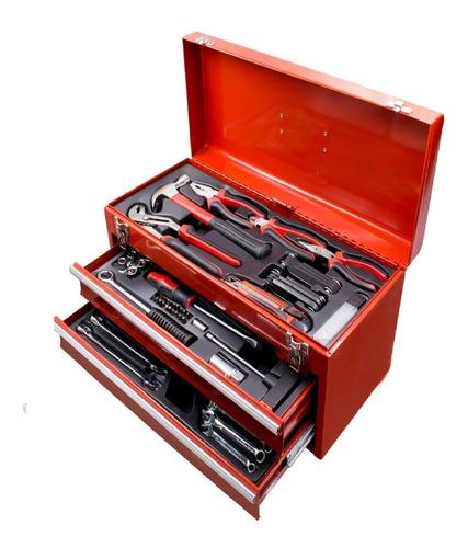 Caja Metalica Set Juego De Herramientas Tubos 88 Pieza Llave