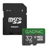 Memoria Micro Sd Gadnic 32 Gb Ultras Clase 10 Camara 80mb/s