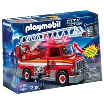 Playmobil Autobomba Con Escalera 5980 Camion De Bomberos