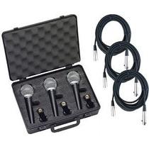 Combo Samson Kit 3 Microfonos R 21 + 3 Cables + Pipeta Envio
