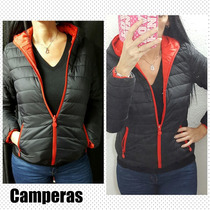 Campera Inflable Mujer Reversible Stampa Woman