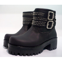 Botas Borcegos Mujer Zapatos Plataforma Tractor