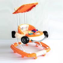 Andador Bebé Mecedor C/manija Y Toldo Autito Minnie Naranja