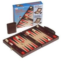 Backgammon Magnetico En Maletin De Cuero Ecologico