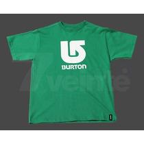 Remera Burton Niños Logo Vertical