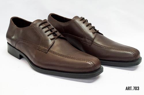 b88968a166 Zapato Vestir Hombre Cuero Suela De Goma Cordón Elástico en venta en ...
