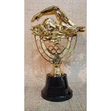 Trofeo Plástico Natación Grande Base Alta - Souvenir