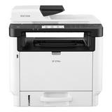 Impresora Multifunción Ricoh Sp 3710sf Con Wifi 110v Blanca Y Gris