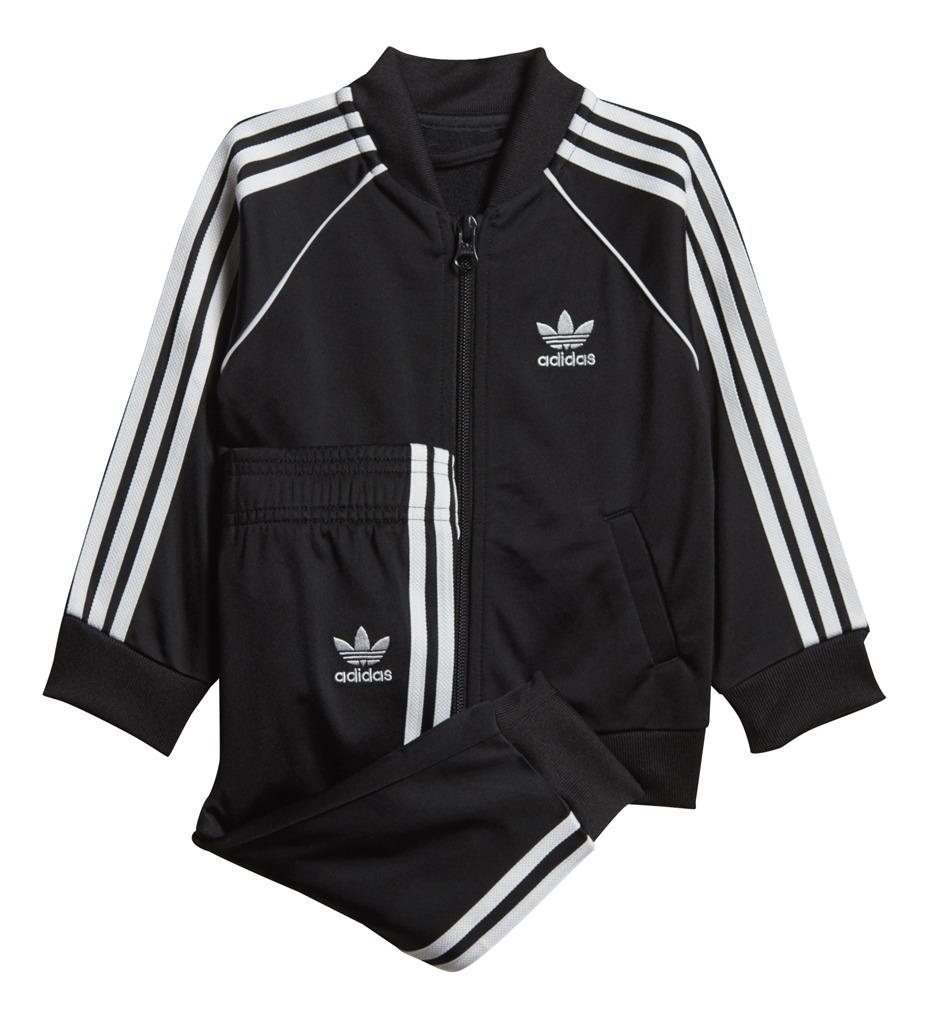Conjunto adidas Originals Moda Superstar Suit Bebe Ng/ng