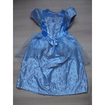 Vestido Disfraz Nena Princesa Cenicienta Disney T8 Importado