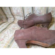 Zapato Nobuk-simil Cuero Gamuzado Talle 37