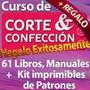 Colección 61 Libros Corte Costura Confección Patrones