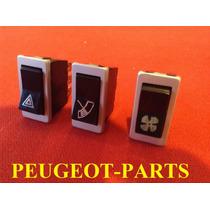 Peugeot 404 Y 504 Tecla Calefactor Limpiaparabrisas Balizas