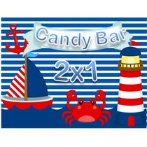 Kit Imprimible Nautico Marinero Candy Bar Golosinas Editable