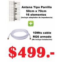 En Lanus Combo Antena Tv Digital Hd Tda+10 Mts Cable Armado