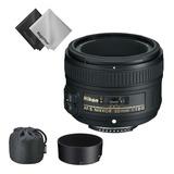 Lente Nikon 50mm 1.8 G Af-s Parasol+ Estuche+ Filtro Uv 58mm