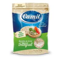 Mini Biscoitos de Arroz Integral 150g - Camil