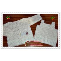 Conjunto De Verano De Hilo Saco Y Camiseta Tejido Artesanal