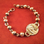 Pulsera Plata Mater Cuentas Y Medalla María Reina