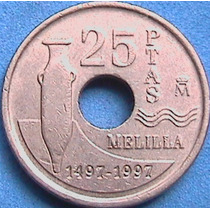 Spg - España 25 Pesetas 1997 Melilla.