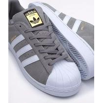 adidas superstar grises gamuza