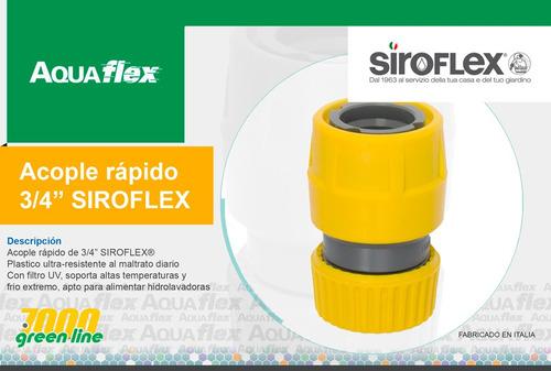 Acople Rapido Manguera De Riego 3/4 Siroflex 7455 Aquaflex