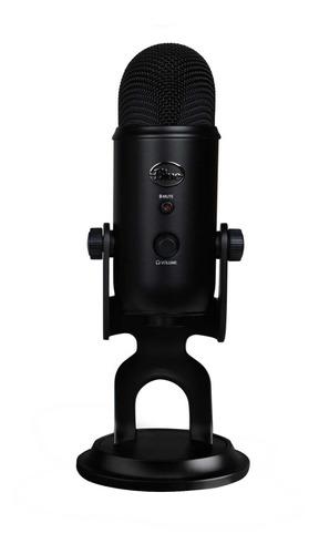 Micrófono Blue Yeti Condensador Omnidireccional Y Cardioide, Bidireccional, Estéreo Blackout