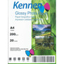Papel Fotogra Glossy Kennen 100h. A4 20h Super Blanco Brillo