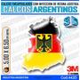 Calcomanias 3d Con Relieve, Alemania Escudo Con Bandera