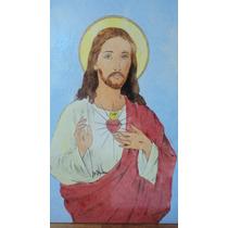 Sagrado Corazòn De Jesùs Mayòlicas 0,30 X 0,40