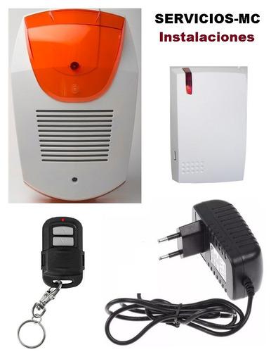 Kit de alarma anti panico a control remoto con luz y for Sonido de alarma