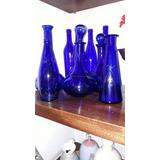 Botellones De Vidrio Azules Son 9