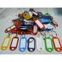 Llaveros Plasticos Tarjeteros Identificadores X 50 Unidades