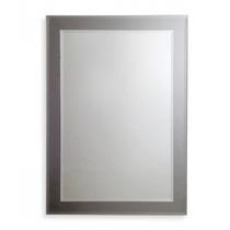 Espejo Reflejar Base Gris 50 X 70 Rectangular Cm Baño
