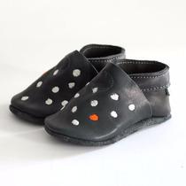Zapatitos Chauchas Calzado Para Bebés Niños Cuero Sin Cromo