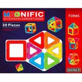 Bloques Imanes Magneticos Magnific Forms 30 Piezas