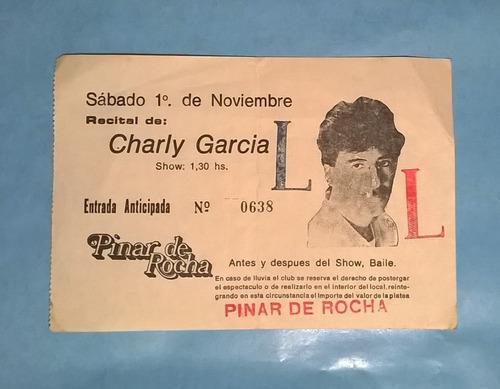 Charly Garcia Entrada Pinar De Rocha