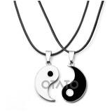 Collar Hombre Mujer Yin Yang Parejas Distancia Amigos 2 En 1