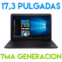 Notebook Hp Core I7 7500u 17 Pulgadas 8gb Ddr4 1tb 7ma 17,3