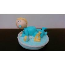 Adorno De Torta Porcelana Fria Bautismo Primer Año Nene Bebe