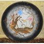 Plato En Porcelana Con Un Dragon Amarillo. (precio: $ 1100)