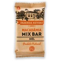 Barra de Macadamia Mix Bar com Mel 22g - Fazenda Retiro