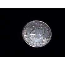 Moneda Argentina 20 Centavos 1950 Conmemorativa San Martín.