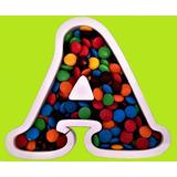 Letra Hueca Para Rellenar Candy Bar + Letra Lisa En Polyfan